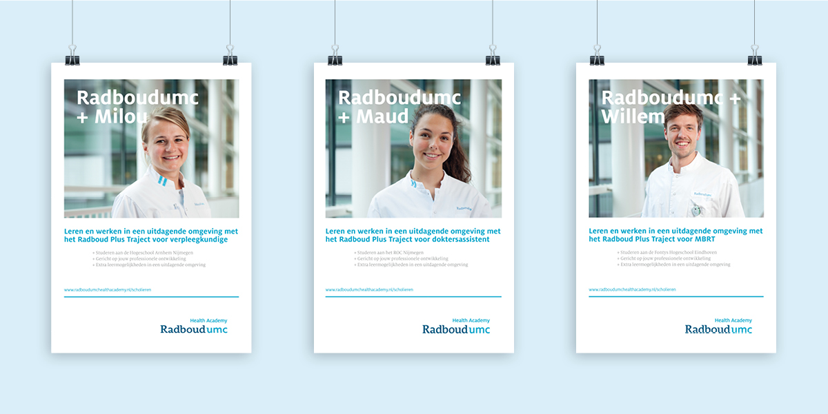 Poster corporate communicatie Radboudumc - Communicatiebureau Puntkomma Nijmegen