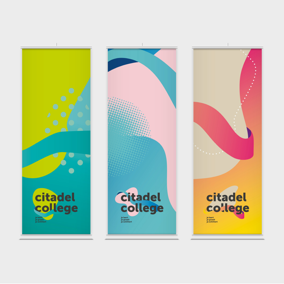 Citadel College | Roll-up banner | Creative Digital Agency Puntkomma Nijmegen