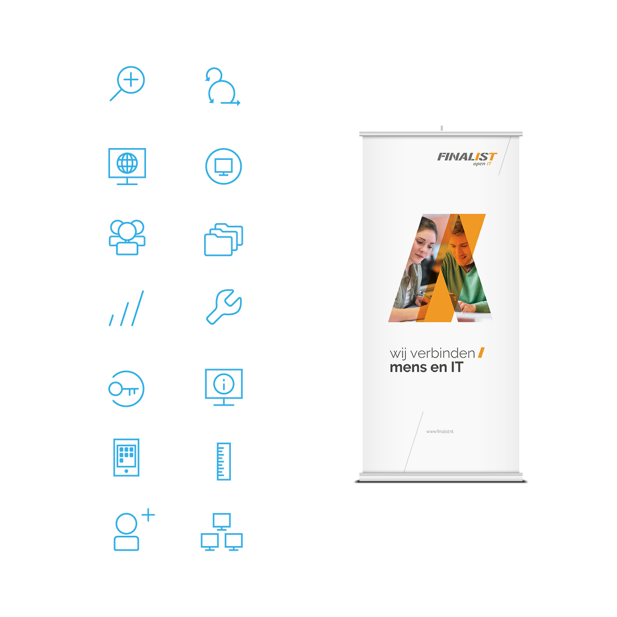 Finalist | Icons en Roll-up banner | Creative Digital Agency Puntkomma Nijmegen