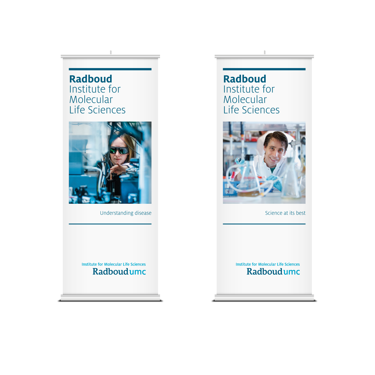 Roll up banner corporate communicatie Radboudumc - Communicatiebureau Puntkomma Nijmegen