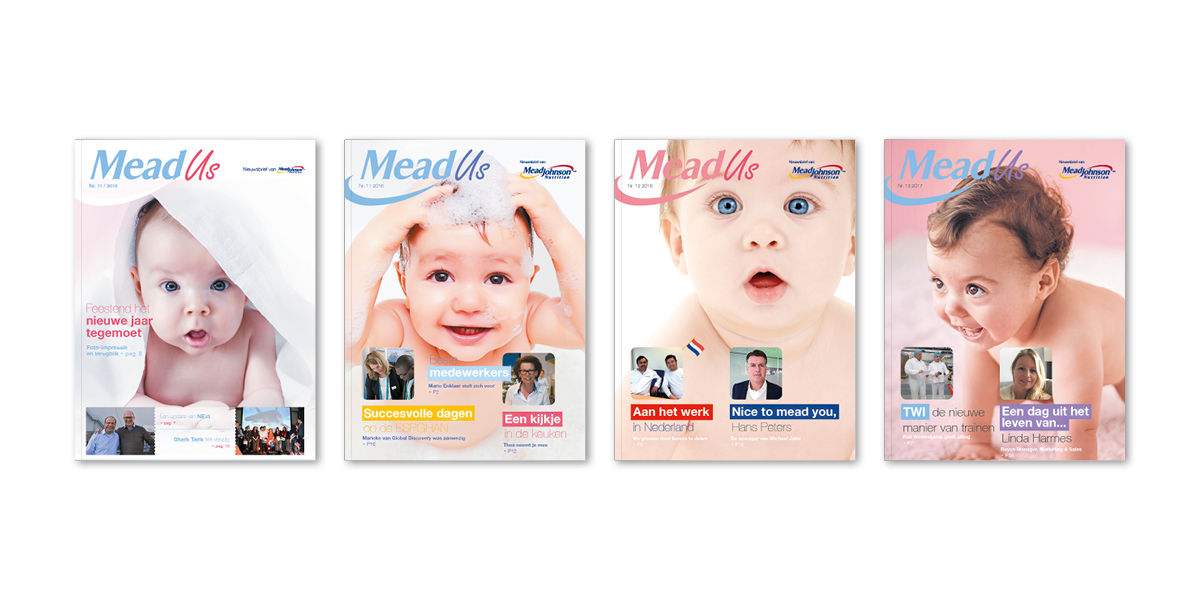 Mead Johnson | Cover MeadUs magazine | Creative Digital Agency Puntkomma Nijmegen