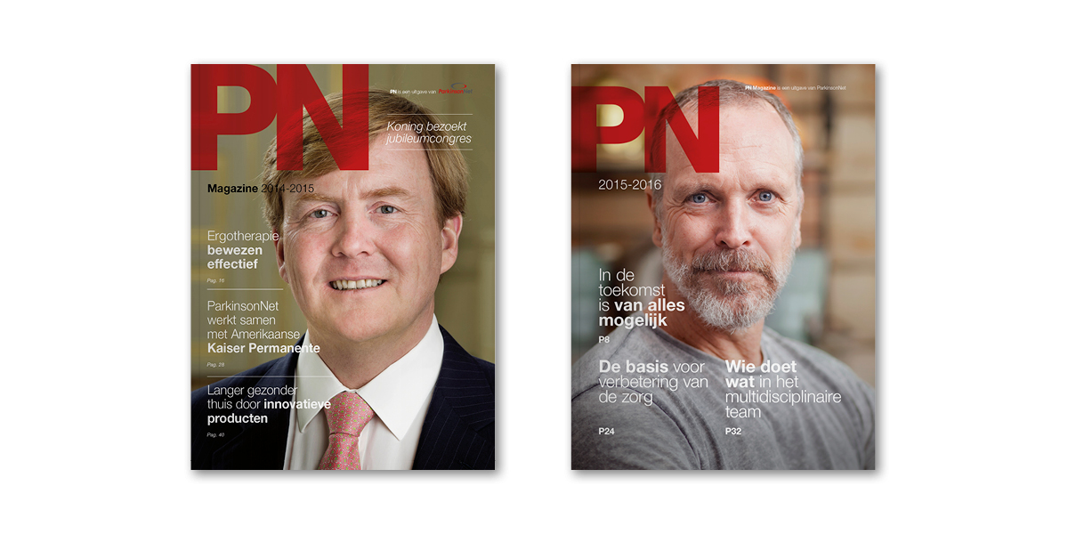 Cover restyling corporate magazine ParkinsonNet - Communicatiebureau Puntkomma Nijmegen