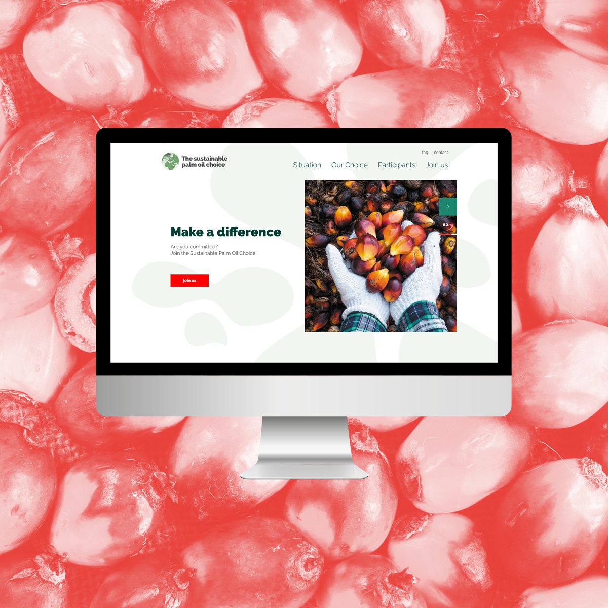 Website Sustainable Palm Oil Choice - Creative Digital Agency Puntkomma Nijmegen