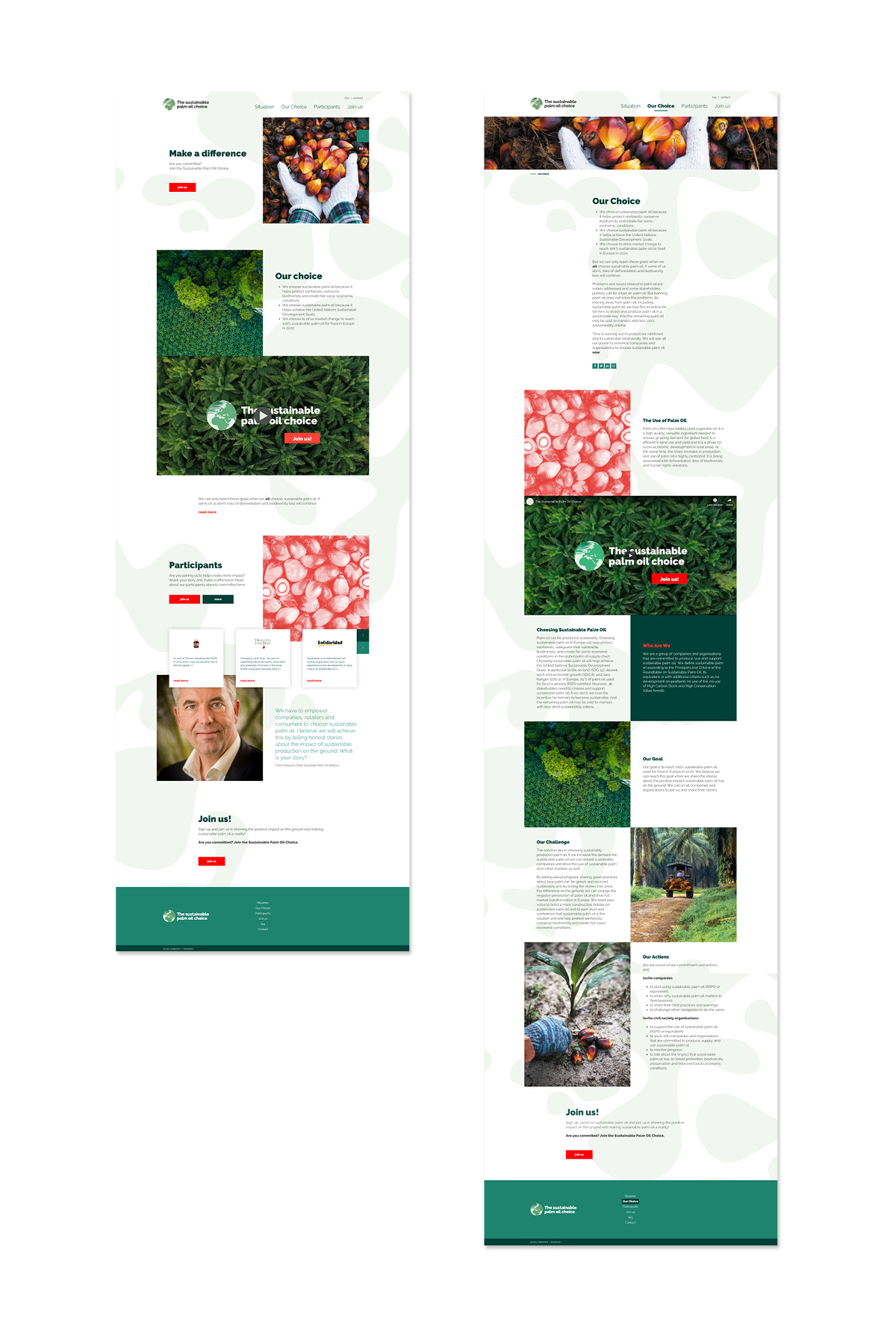 Website Schermen Sustainable Palm Oil Choice - Creative Digital Agency Puntkomma Nijmegen